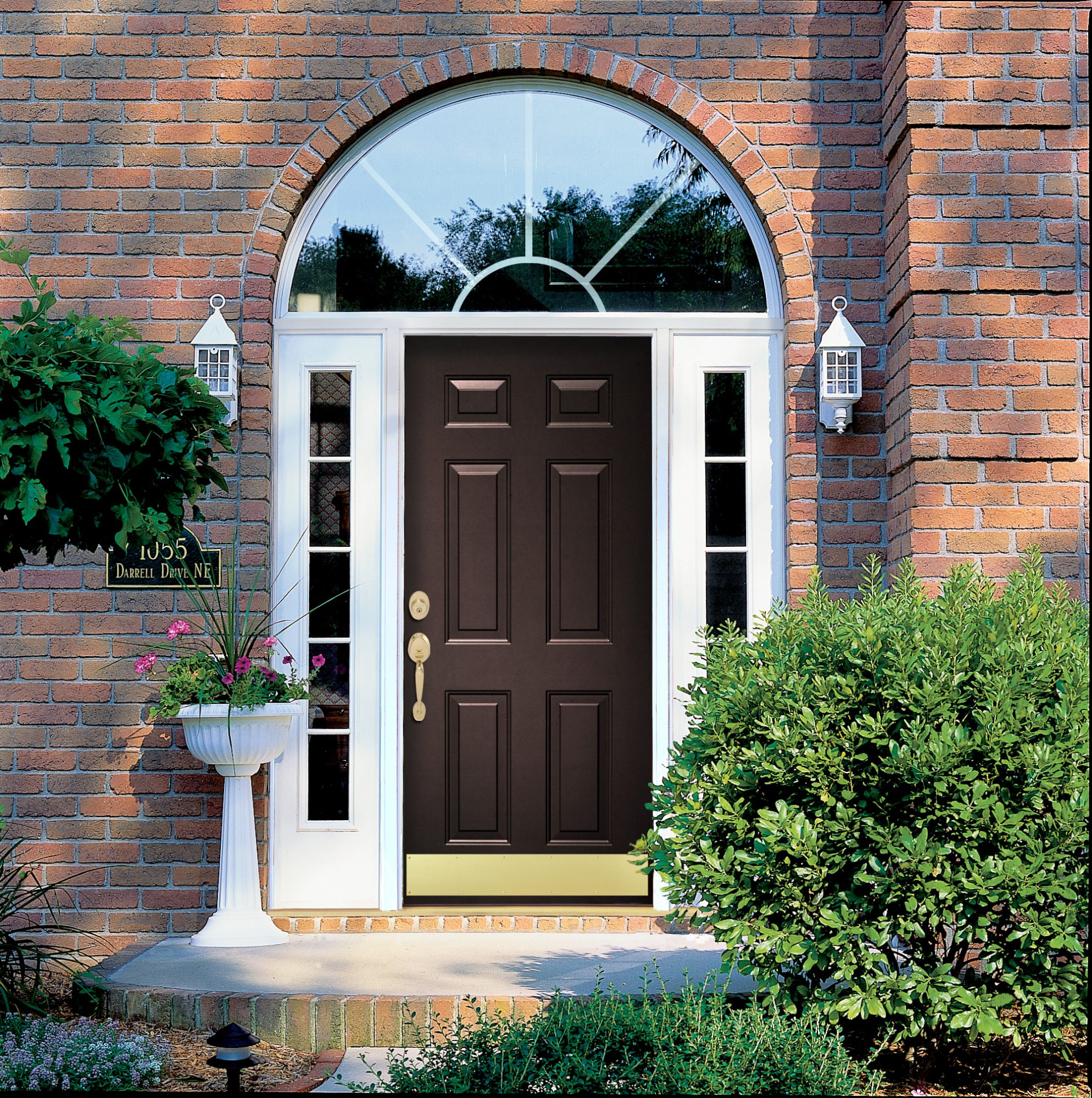 entry door with sidelites and transome knoxville tn image